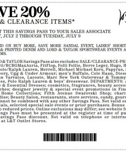 Lord and Taylor Sale and Clearance Coupon