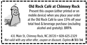 Old Rock Cafe at Chimney Rock
