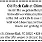 Old Rock Cafe Discount Coupon