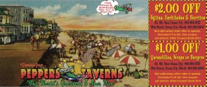 Peppers Taverns Coupon 2013