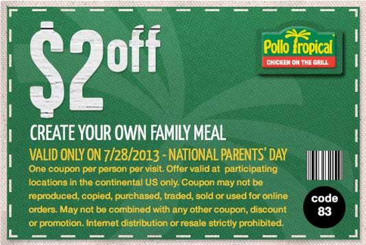 Pollo tropical coupon code