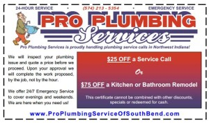 Pro Plumbing Services Coupon 2013