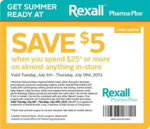 Rexall Pharma Plus Coupon 2013