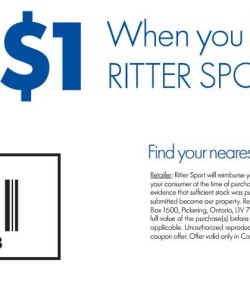 RITTER SPORTS CHOCOLATE COUPON