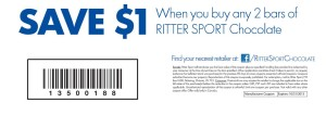 Ritter Sport Chocolate Coupon 2013