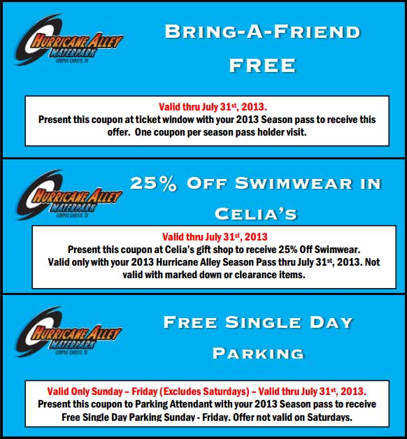 Water park discount coupons
