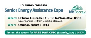 Senior Energy Assistance Expo Free Parking Coupon August 2013