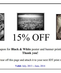 Seton Hall University BW Prints Coupon