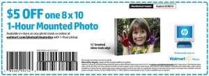 Walmart Photo Coupon Mounted Photo