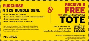 Whole Foods Market coupon free tote bag