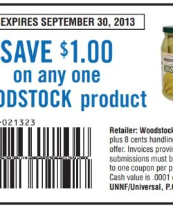 Woodstock Product Savings Coupon