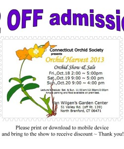 Orchid Harvest Discount Admission Coupon