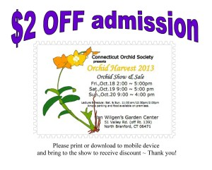 $2 off Connecticut orchid harvest coupon