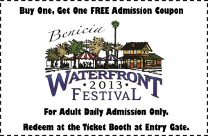 Bogo Benicia Waterront Festival Coupon