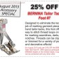 Bernina Tailor Tack Foot #7 Coupon