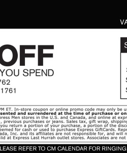 Express Apparel Discount Coupon