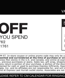 Express Apparel Discount Coupon