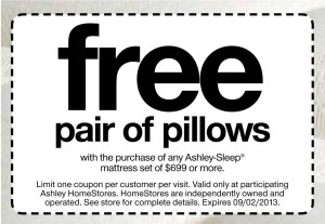 Free Pillows Ashley Furniture