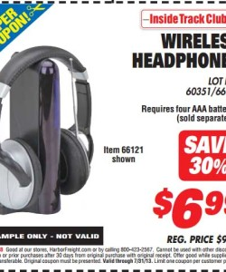 Harbor Freight Tools Wireless Headphones