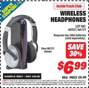 Harbor Freight Tools Wireless Headphones coupon