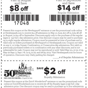 Hershey park discount tickets coupon