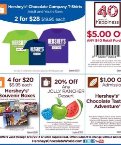 Hershey chocolate world coupons discounts