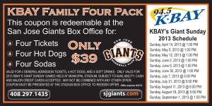 KBAY Family Four Pack San Jose Giants Coupon