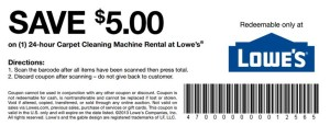 Lowes coupon carpet cleaning machine rental