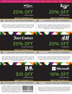 Mall of Americas Multi-discount coupons