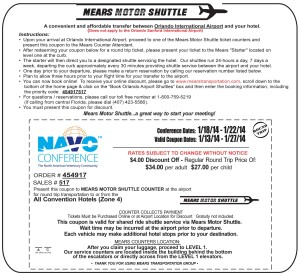 Mears Motor Shuttle NAVO Conference