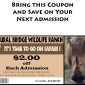 Natural Bridge Wildlife Ranch discount coupon