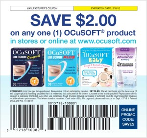 Ocusoft manufacturers coupon