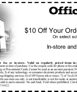 Office Depot School Supplies Coupon