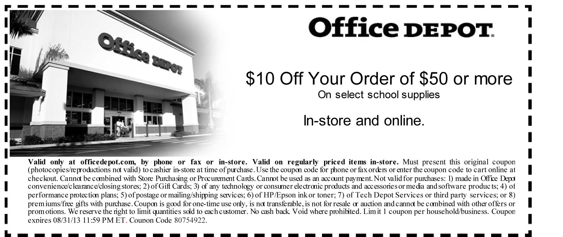 Office Depot Coupon off school supplies