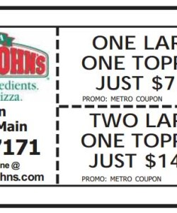 Papa Johns pizza discount coupon