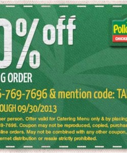 photograph regarding Pollo Tropical Printable Coupons identified as Pollo Tropical Catering Lower price Print Coupon King