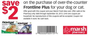 Save $2 on Frontline Plus at Marsh Pharmacy