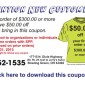 Screen Printed Production T-shirt Coupon