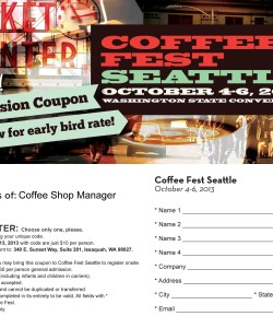 Seattle Coffee Fest Discounted Admission Coupon