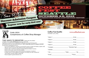 Seattle coffee fest ticket coupon