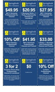 Springfresh Dry Cleaners Coupon