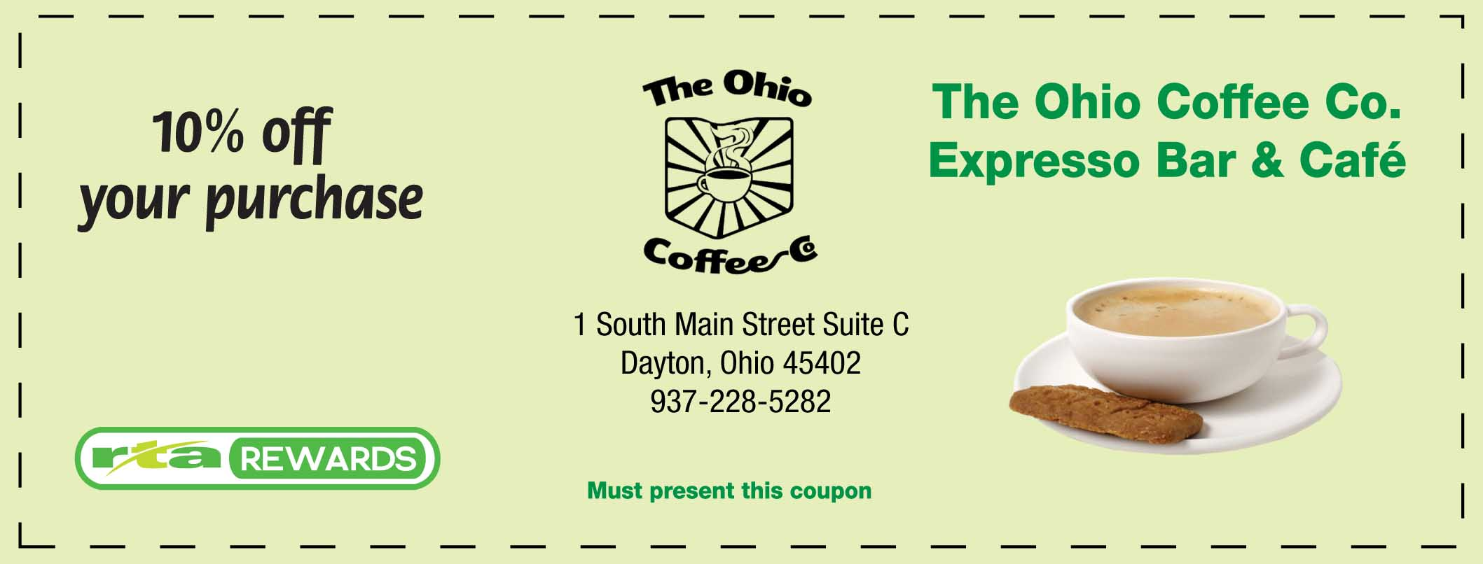 Discount coffee coupon
