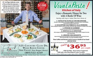 Viva La Pasta Italian Food Coupon