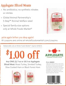 Applegate Sliced Meats Whole Foods Coupon