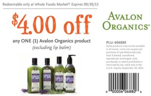 Whole Foods Avalon Organics