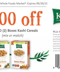 Whole Foods Kashi Cereal Coupons