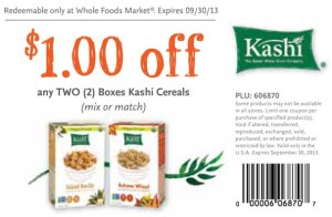 Whole foods Kashi cereal coupon