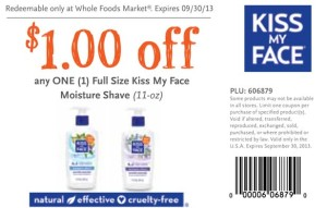 Whole foods Kiss My Face Moisture Shave