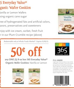 Whole Foods Organic Wafer Cookies Coupon