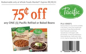 Whole Food Pacific Beans
